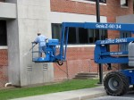 Clean EIFS safely without damage to stucco at UMES