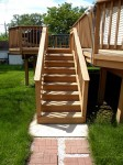 First Deck Built – Front Steps View – Deck Resurrect