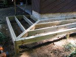 "Floating walkway supported on 8"" concrete footers double rims – by DeckResurrect"