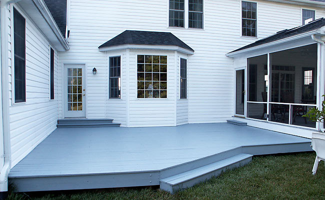 Solid stain deck, 2 coats in Centreville, MD by Deck Resurrect