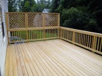 "Custom deck cleaned after construction because of ""mill glaze"" – Columbia, MD by DeckResurrect"
