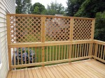 Custom deck with privacy screen – Columbia, MD by DeckResurrect