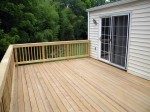 Deck fastened from below, no nail or screw holes on the top.