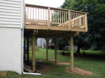 Deck completed, screwed & bolted to exceed county specs – Columbia, MD