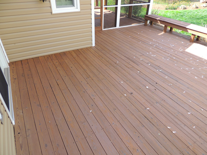 Cleaned & Stained Deck with SemiTransparent Stain–Severna Park, MD