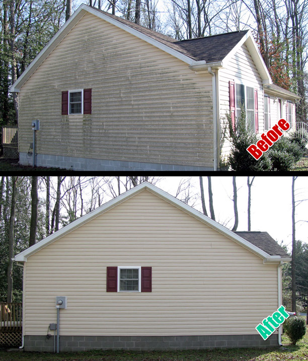 Siding cleaned by DeckResurrect of Delmarva, MD