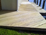 Deck is safely power washed in a 3 step process that is environmentally safe – Millsboro, DE