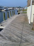Dirty deck & dock is damaged from the Sun, mildew and faces south – Millsboro, DE