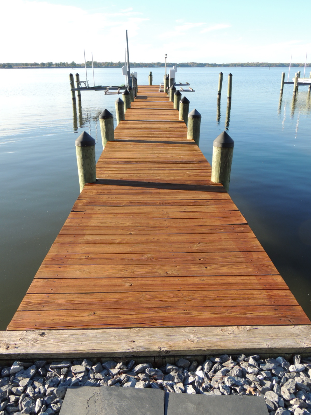 Dock after Pressure Washing & Staining with Toner, Cambridge, MD