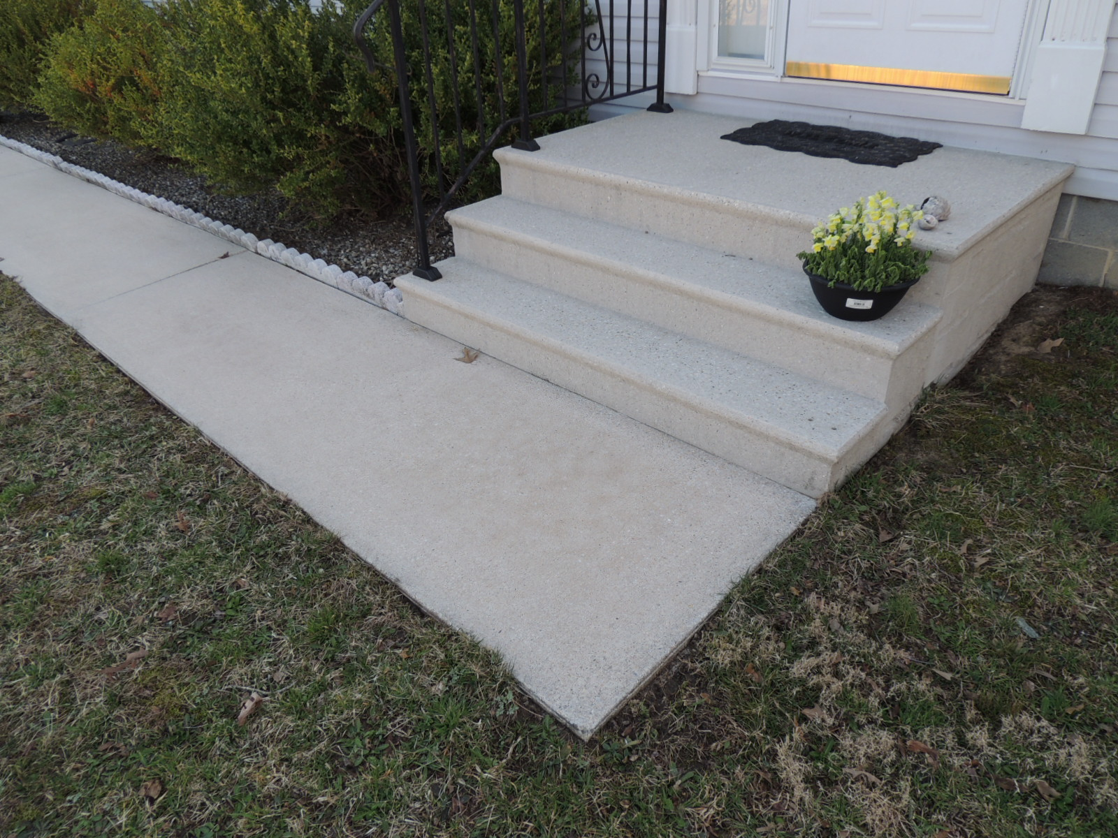 Concrete after Power Washing, Georgetown, DE