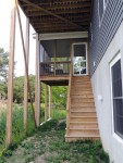 Elevated deck columns & screened-in porch needs protection from the elements– Greenbackville, VA (Facing Wallops Island)