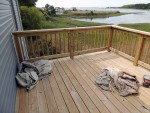 Elevated deck in full sun also desperately needs UV protection – Greenbackville, VA (Facing Wallops Island)
