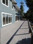 Deck re-stained with solid stain – (Kent Island) Stevensville, MD