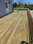 Deck cleaned and ready for stain, Berlin, MD