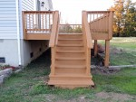Deck & steps stained – Berlin, MD